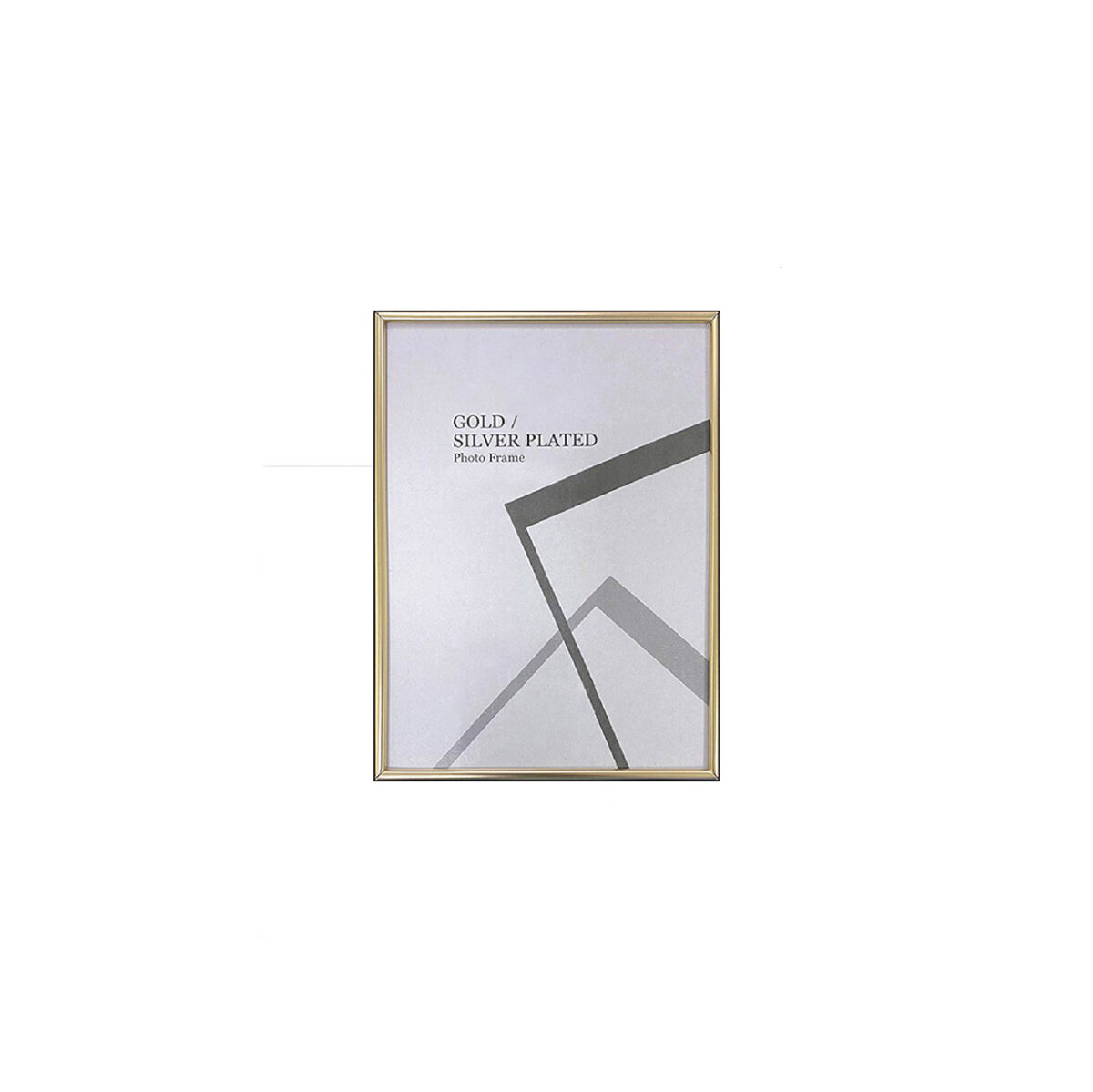 Centre Photo Frame / Picture Frame - Matte Gold 5R