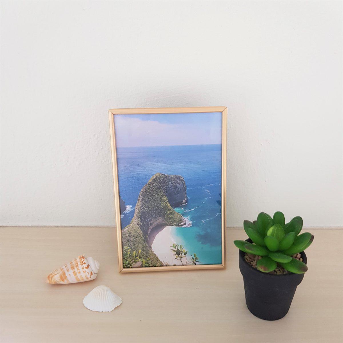 Centre Photo Frame / Picture Frame - Matte Gold