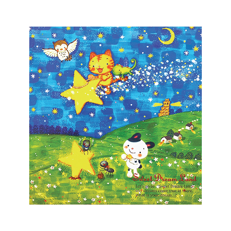 """NCL Self-Adhesive L-size """"Animal Story"""" Photo Album / Photo Book (25 Sheets)"""