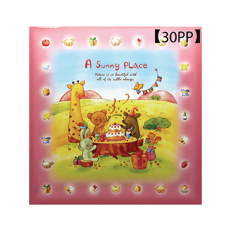 """NCL Self-Adhesive L-size """"Animal Story"""" Photo Album / Photo Book (30 Sheets)"""