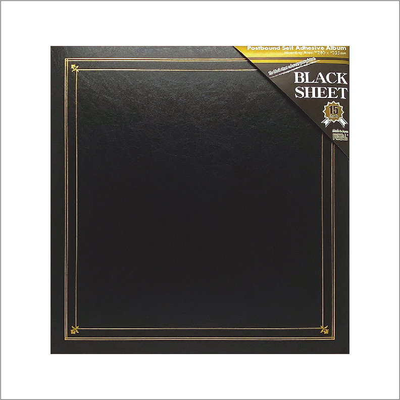 NCL Self-Adhesive L-size (15 Black Sheets) Photo Album / Photo Book ( Classic )