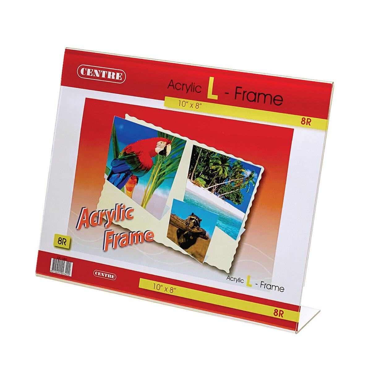 Centre Acrylic Picture Frame - L Stand Landscape 8R