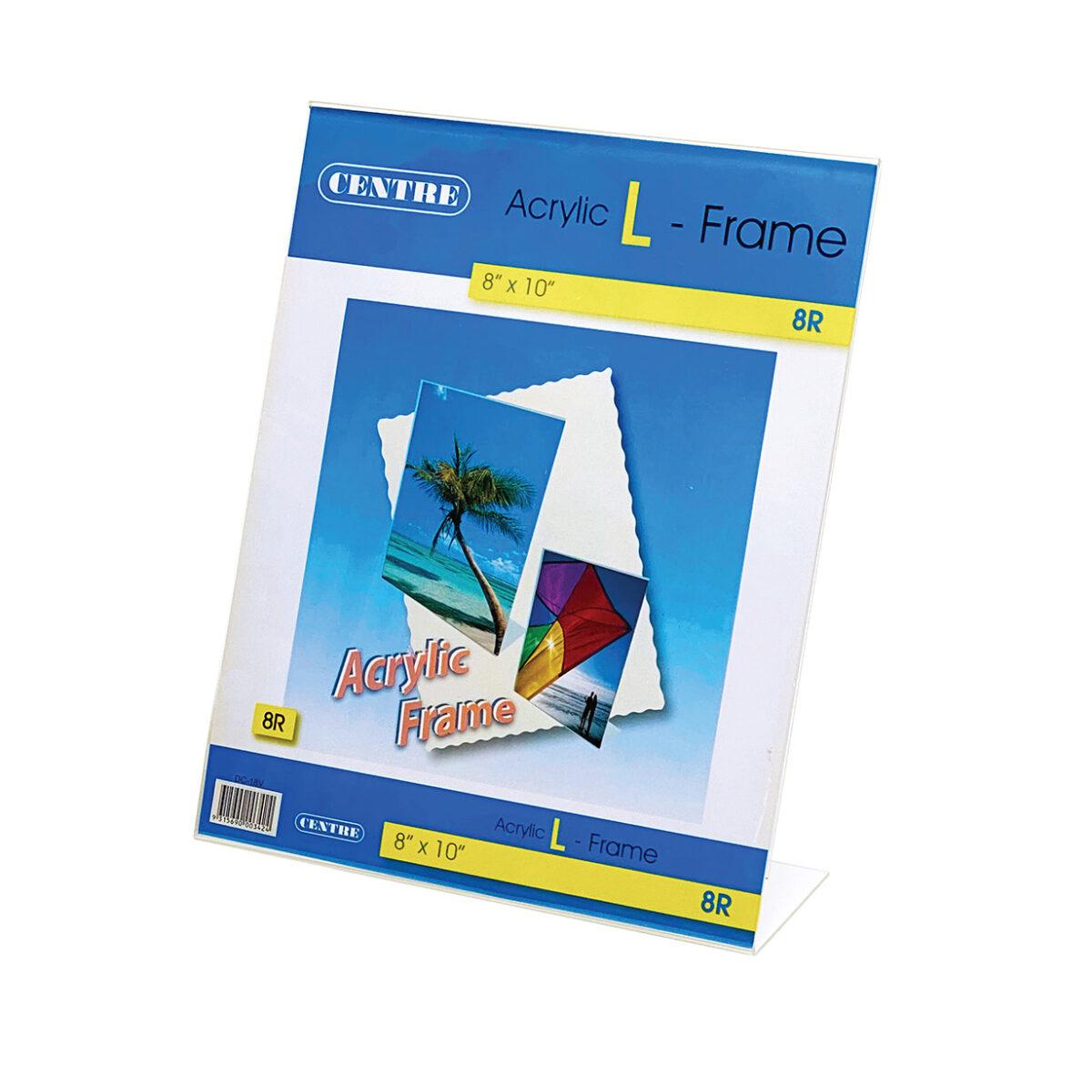 Centre Acrylic Picture Frame - L Stand Portrait 8R