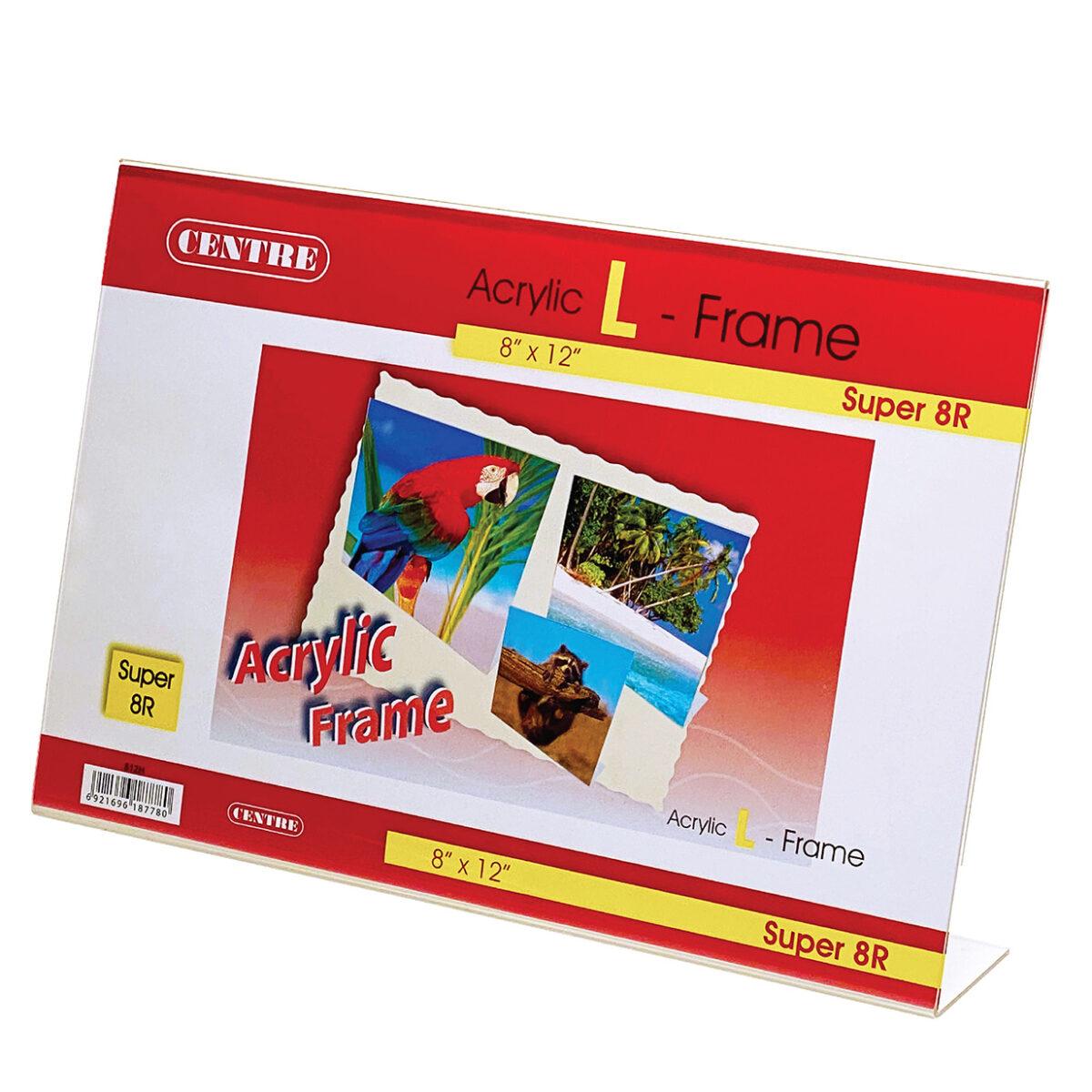 Centre Acrylic Picture Frame - L Stand Landscape Super 8R