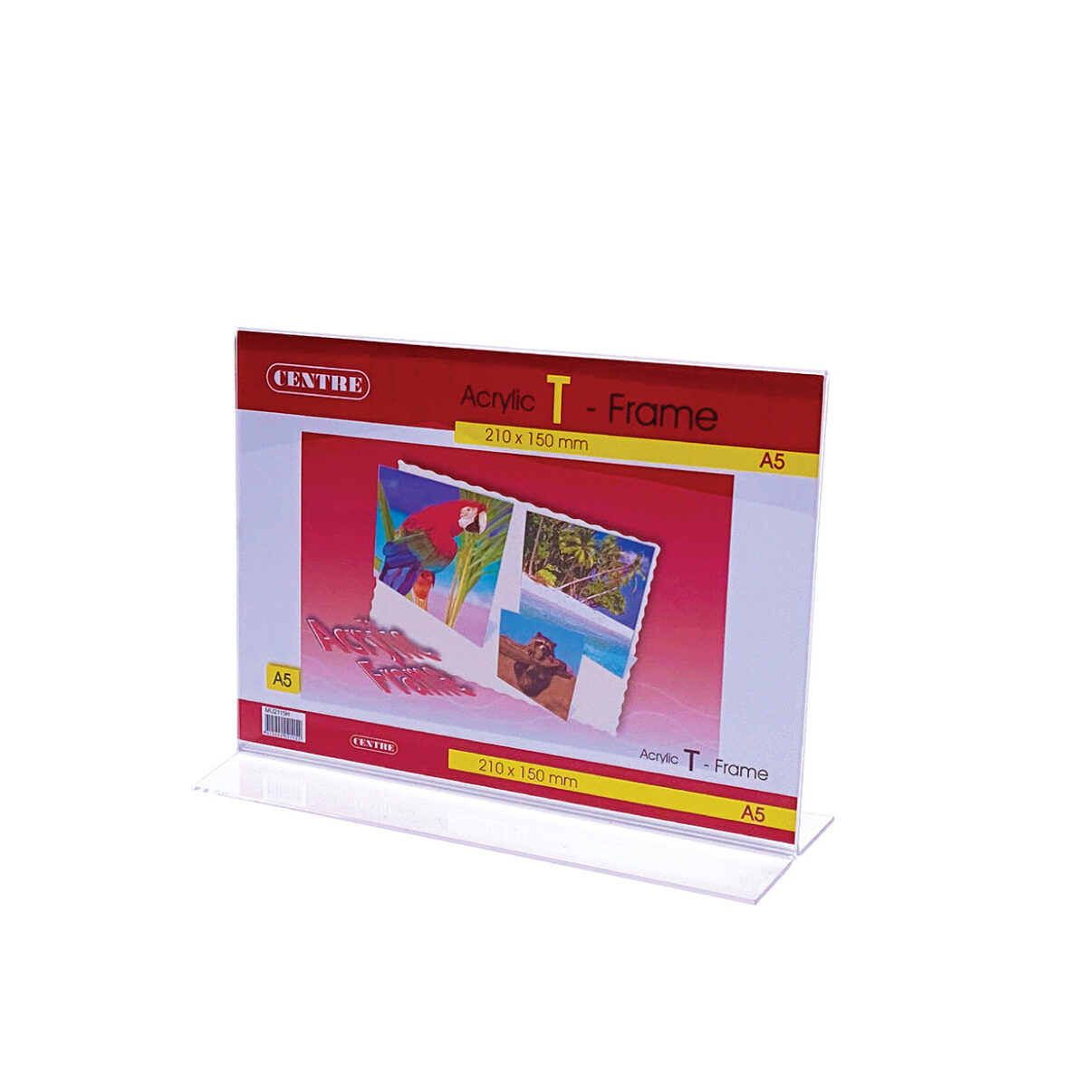 Centre Acrylic Picture Frame - T Stand Landscape A5