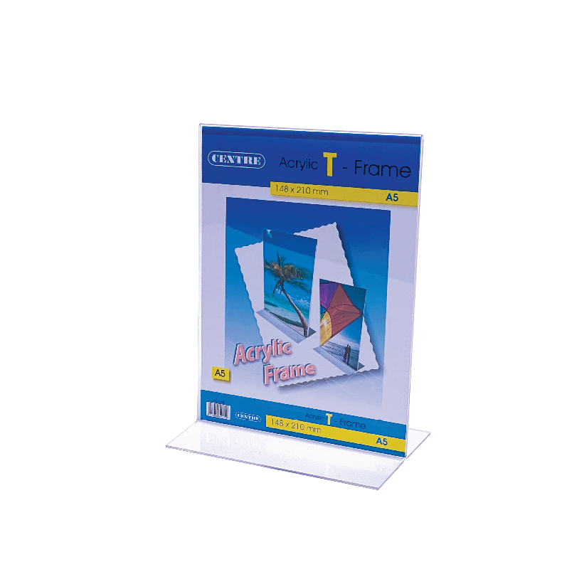 Centre Acrylic Picture Frame - T Stand Portrait A5