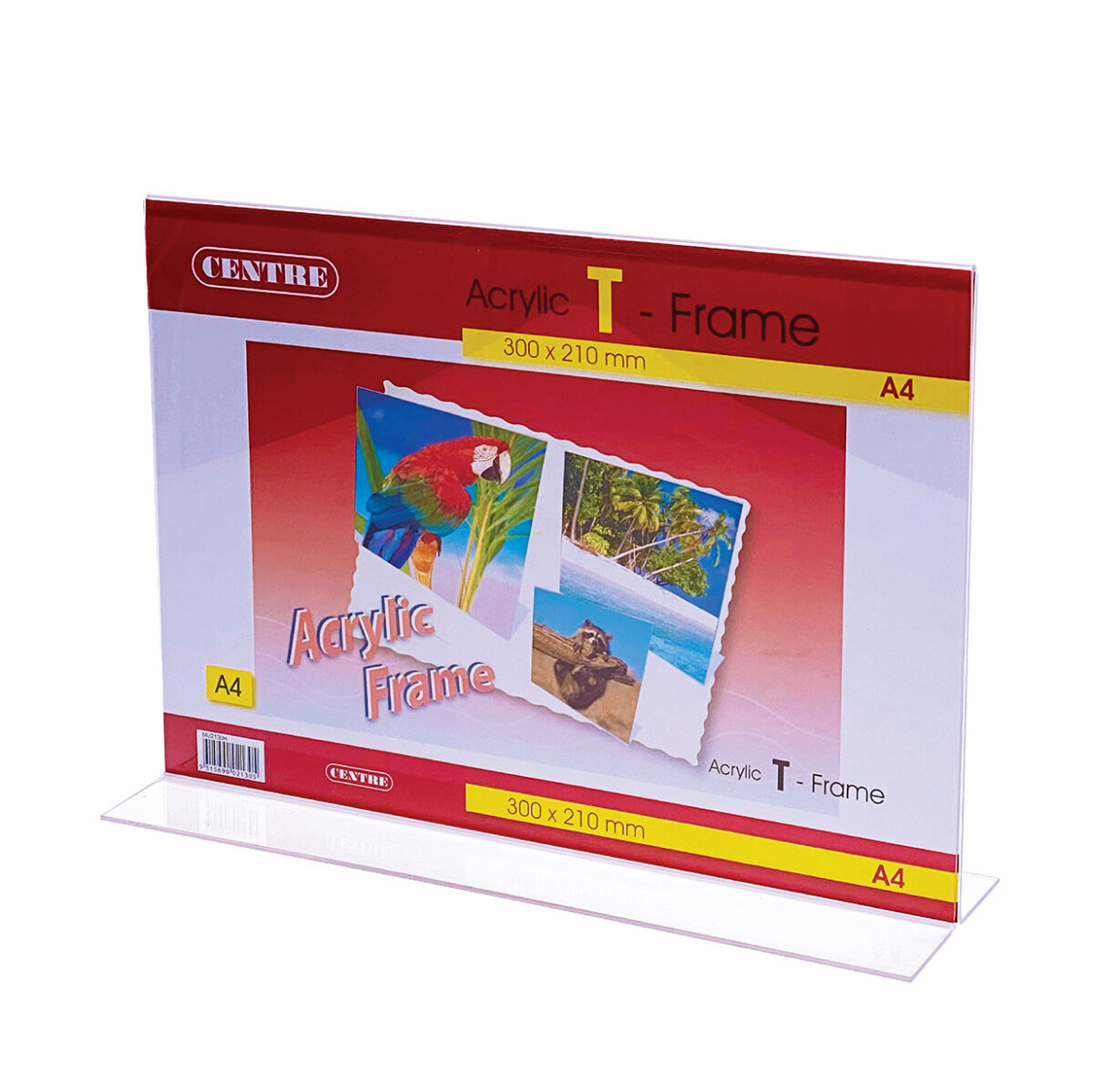 Centre Acrylic Picture Frame - T Stand Landscape A4