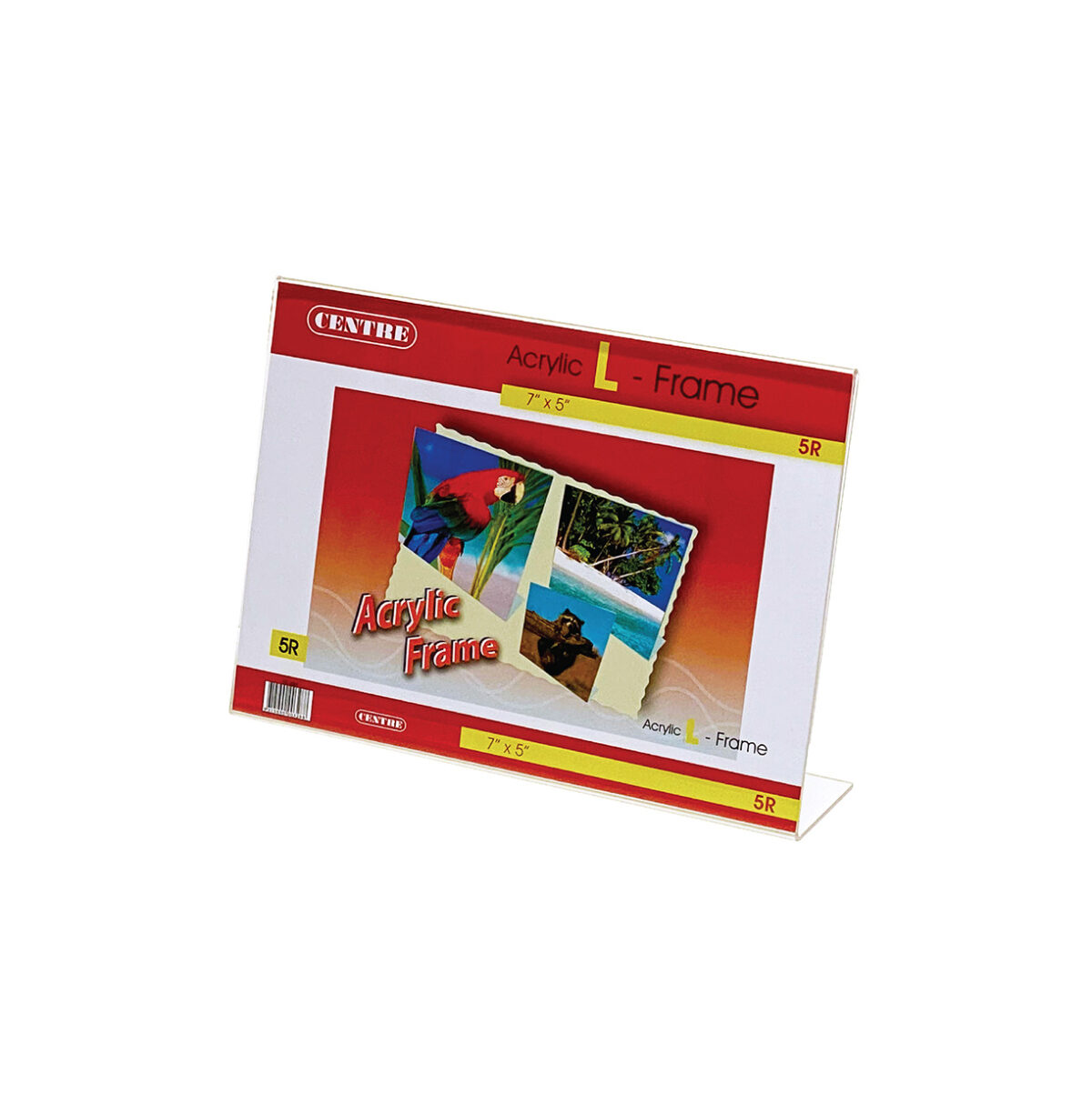 Centre Acrylic Picture Frame - L Stand Landscape 5R