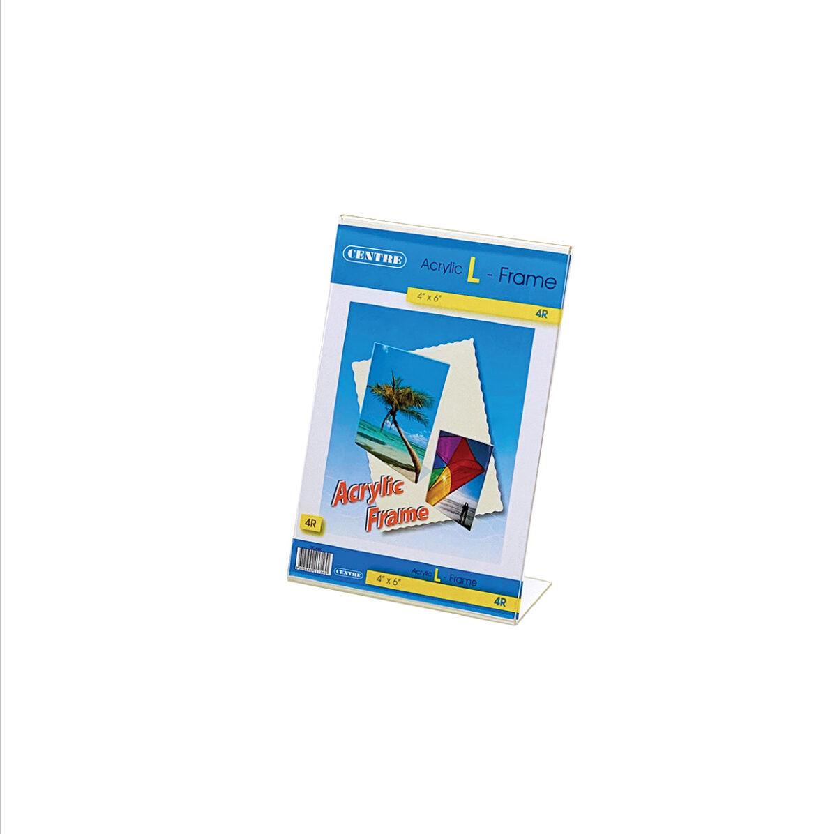 Centre Acrylic Picture Frame - L Stand Portrait 4R