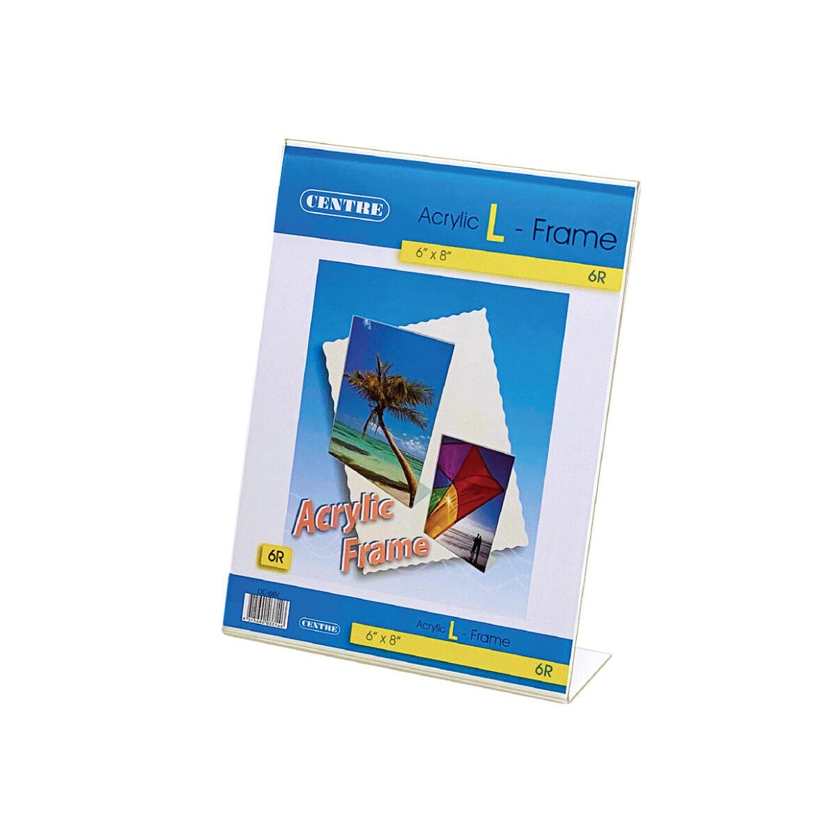 Centre Acrylic Picture Frame - L Stand Portrait 6R