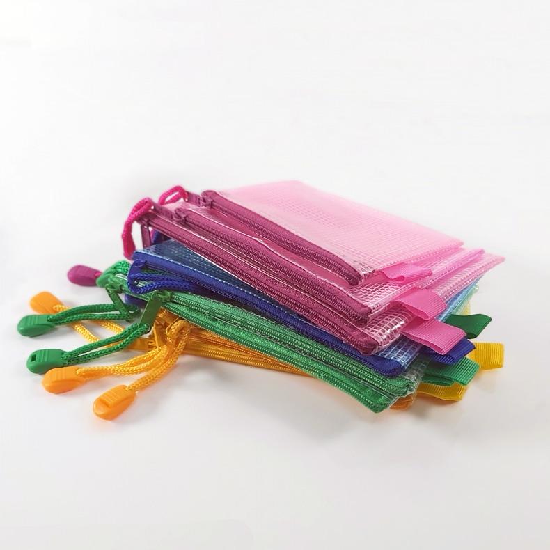 Translucent Mesh Bag/ Mesh Pouch with Zipper - A3,A4,A5,A6,A7