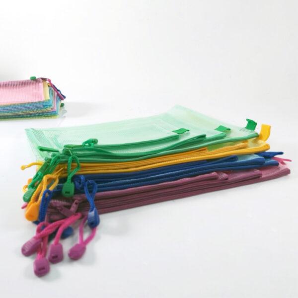 Translucent Mesh Bag/ Mesh Pouch with Zipper - B4,B5,B6,B8