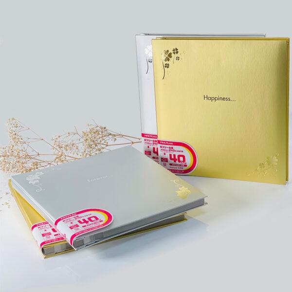 NCL Self-Adhesive Wedding Album / Photo Book (Soft Metallic Gold/ Silver)
