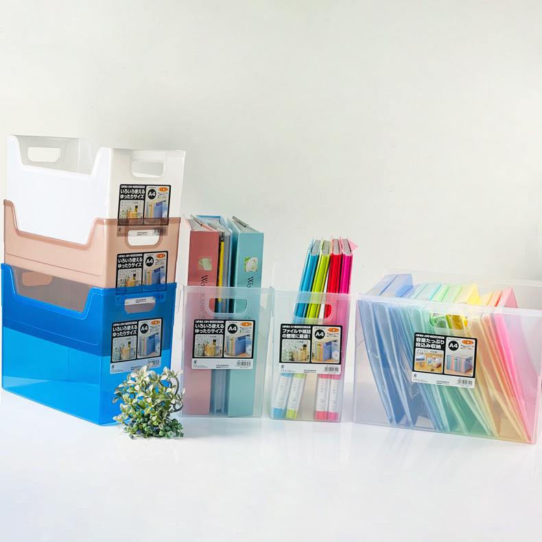 NCL Capaty Clear-Coloured Transparent File Box / Storage Box