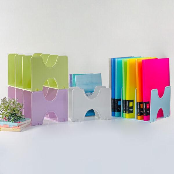 NCL Pastel Fit Colour Book Ends