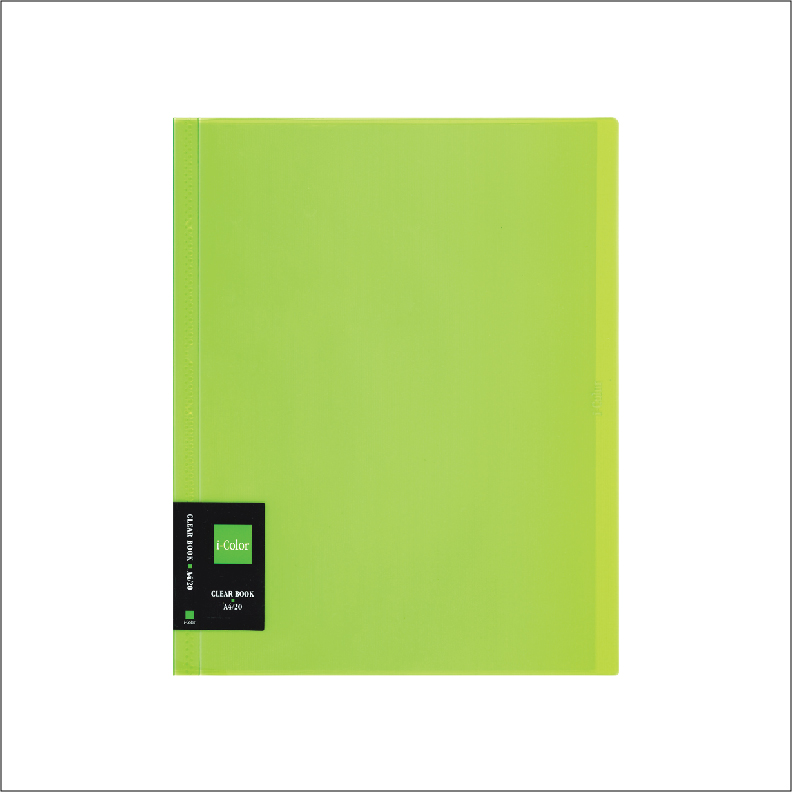 NCL iColour Clear File Clear Book - 20 pockets