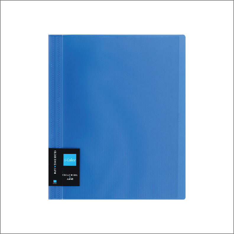NCL iColour Clear File Clear Book - 40 pockets