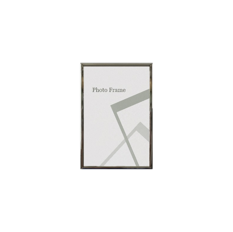 Centre Nickel Plated Photo Frame / Picture Frame - Glossy Silver 4R