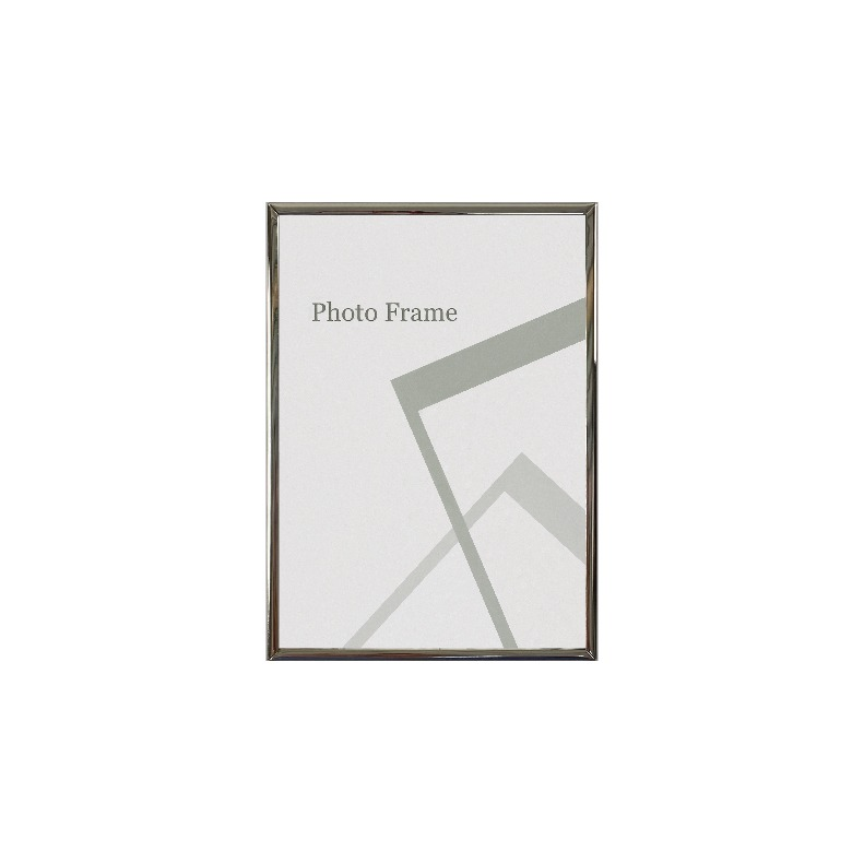 Centre Nickel Plated Photo Frame / Picture Frame - Glossy Silver 5R