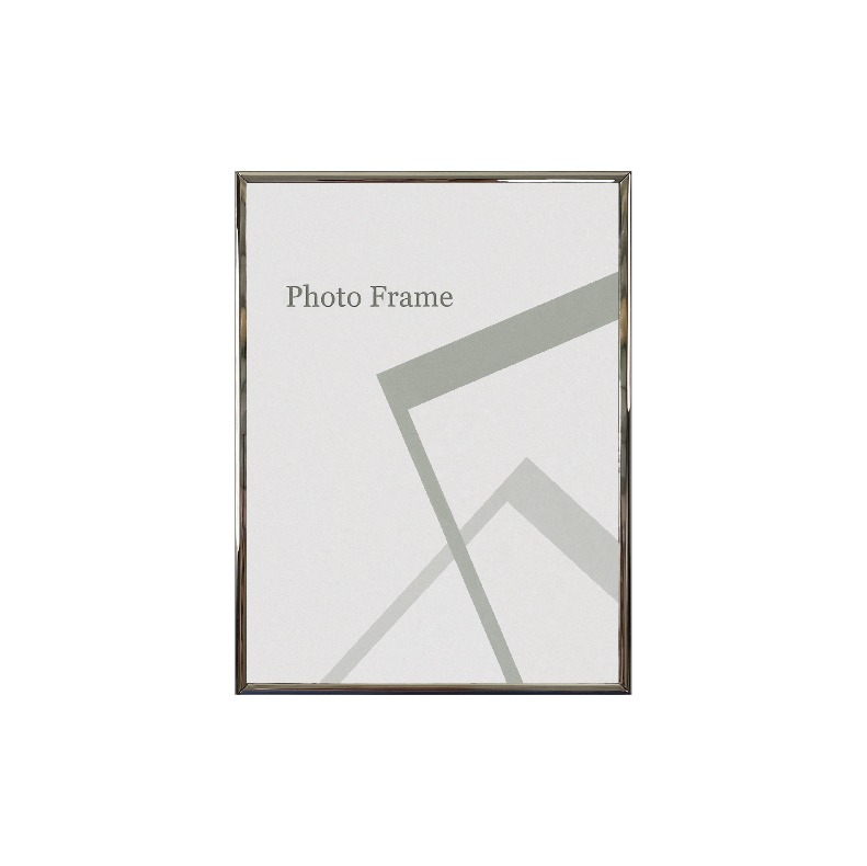 Centre Nickel Plated Photo Frame / Picture Frame - Glossy Silver 6R