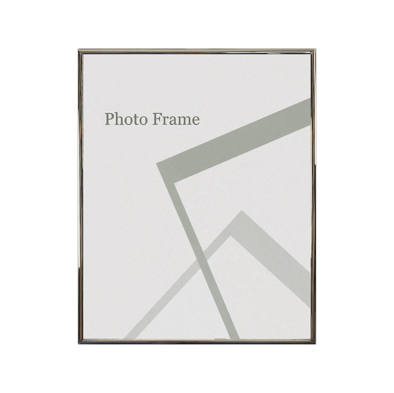 Centre Nickel Plated Photo Frame / Picture Frame - Glossy Silver 8R