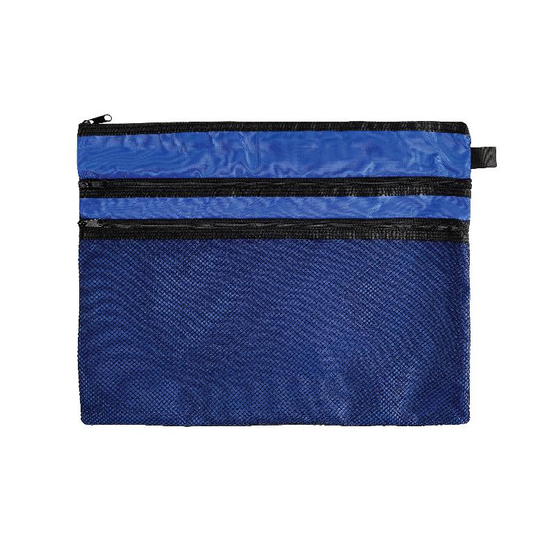 Soft Mesh Bag/ Mesh Pouch - Grey / Blue