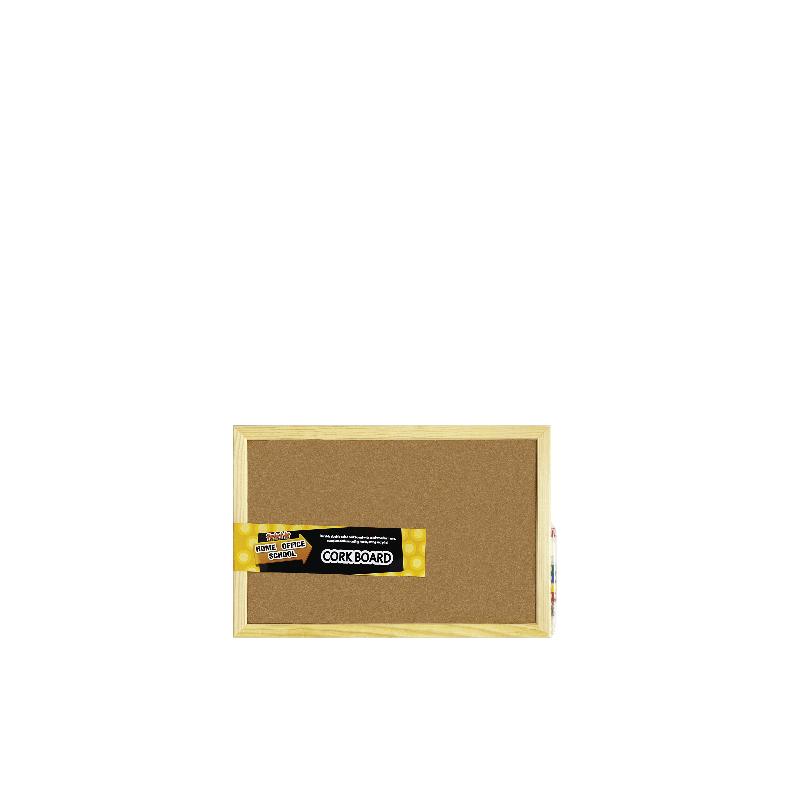 Centre Cork Board / Pin Board / Bulletin / Decorative Board With Wooden Frame -30X45cm