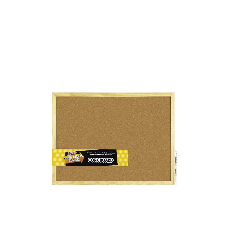 Centre Cork Board / Pin Board / Bulletin / Decorative Board With Wooden Frame -45X60cm
