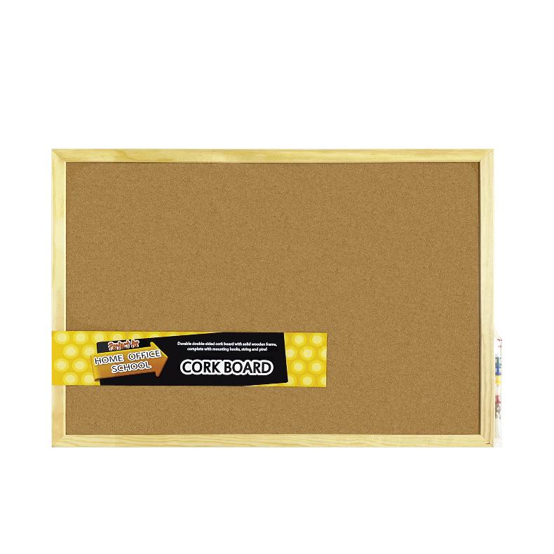 Centre Cork Board / Pin Board / Bulletin / Decorative Board With Wooden Frame -60X90cm