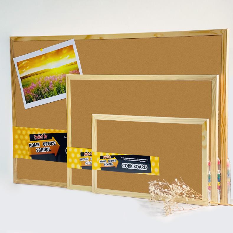 Centre Cork Board / Pin Board / Bulletin / Decorative Board With Wooden Frame