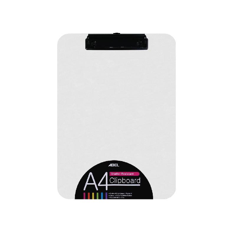 Abel Shatter Resistant Plastic Clipboard A4