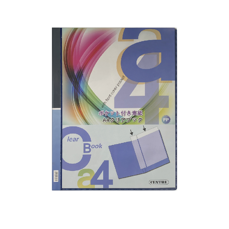 Centre Clear Holder Clear Book A4 with Front Cover Pocket