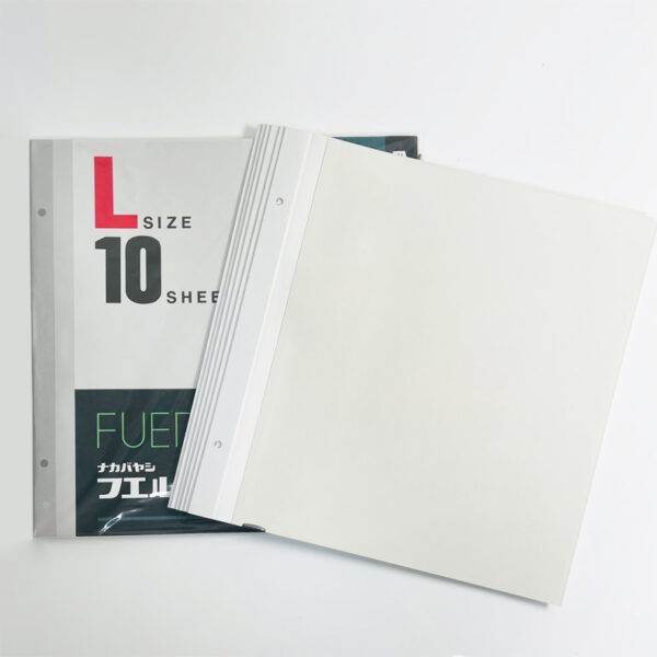 NCL L Size Self-Adhesive Photo Album Refill (White)