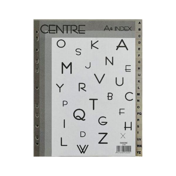 Centre Alphabet / Numeric Index Divider - A4