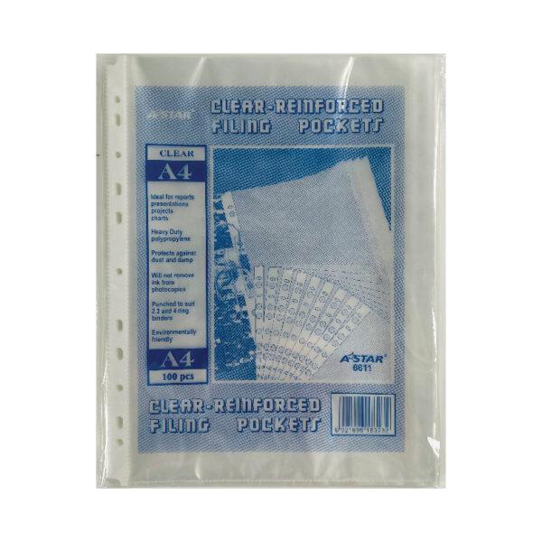 AStar 11-Hole A4 Clear Sheet Protector (100pc)