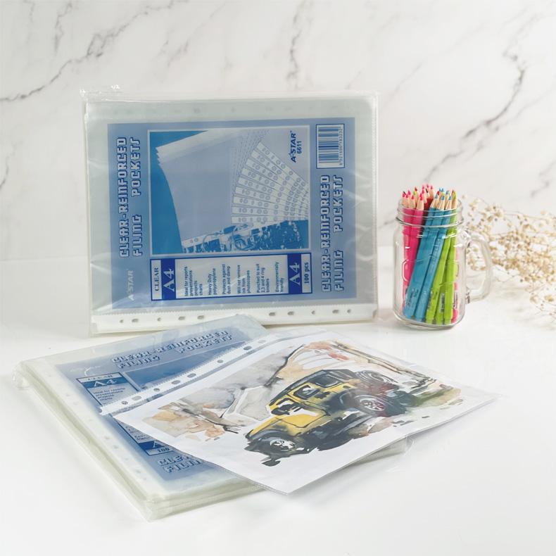 AStar Sheet Protector / Clear Filing Pockets (A4)