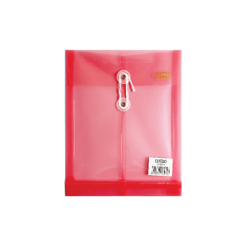 Centre Transparent Clear Document Holder / Data Envelope (With String) - A5