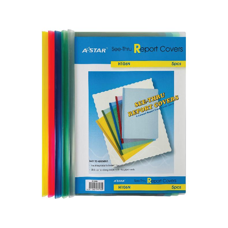AStar Transparent Slide Binder Report Cover - A4 (5pc)