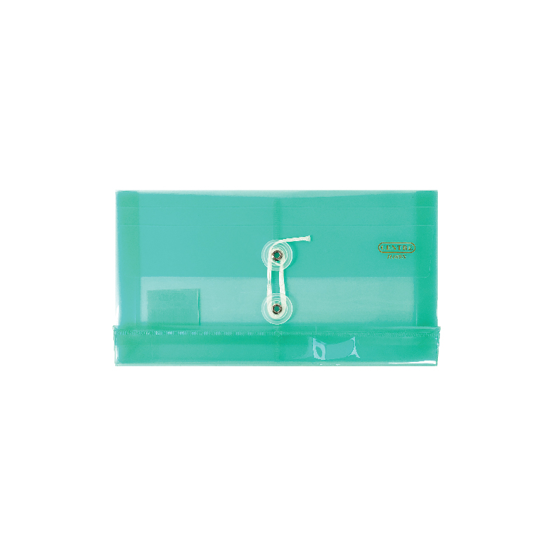 Centre Transparent Clear Document Holder / Data Envelope (With String) - B5