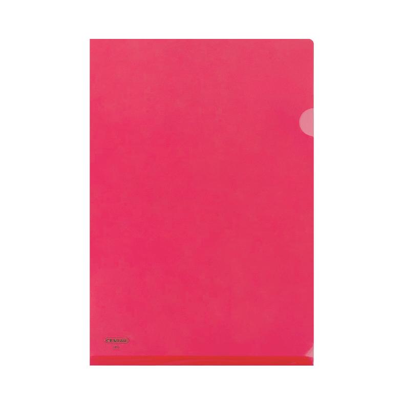 Centre L-Shaped Transparent Plastic Document Holder - F4