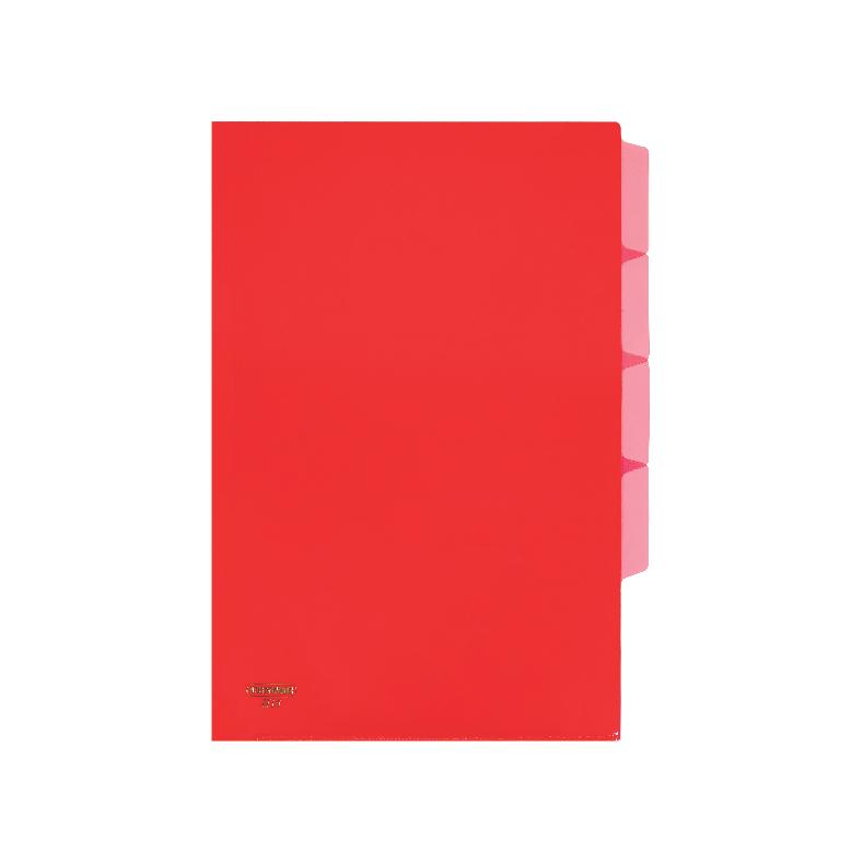 Centre L-Shaped Transparent Plastic Document Holder (With Index Divider)- A4