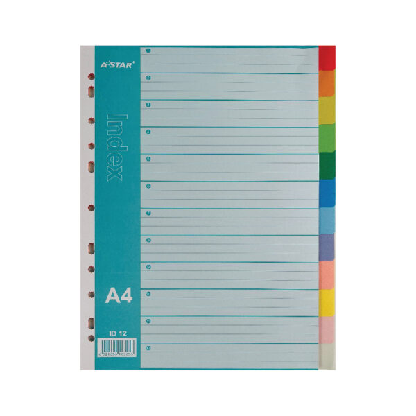 AStar Multi-Colours PP Index Divider - A4