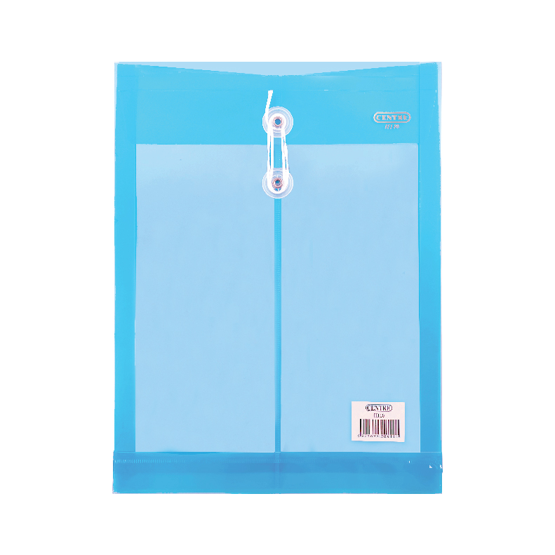 Centre Transparent Clear Document Holder / Data Envelope (With String) - A4