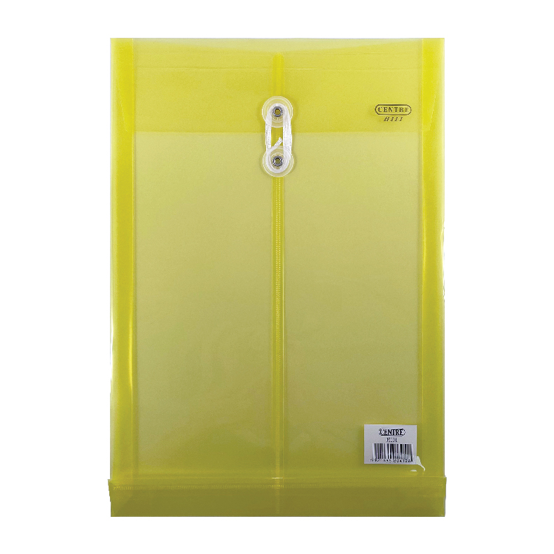 Centre Transparent Clear Document Holder / Data Envelope (With String) - F4