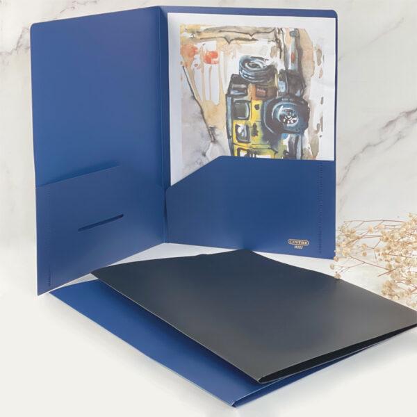 Centre Plastic Folder - A4