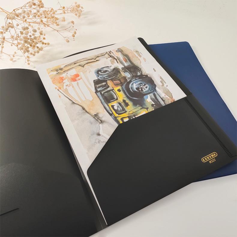 Centre Plastic Folder - Interior