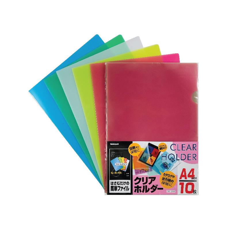 NCL L-Shaped Transparent Plastic Document Holder - A4