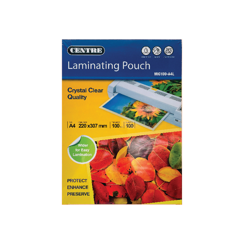 Centre Laminating Pouch / Film - A4